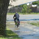 Answer cyclist,flood