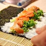 Answer salmon,Nori
